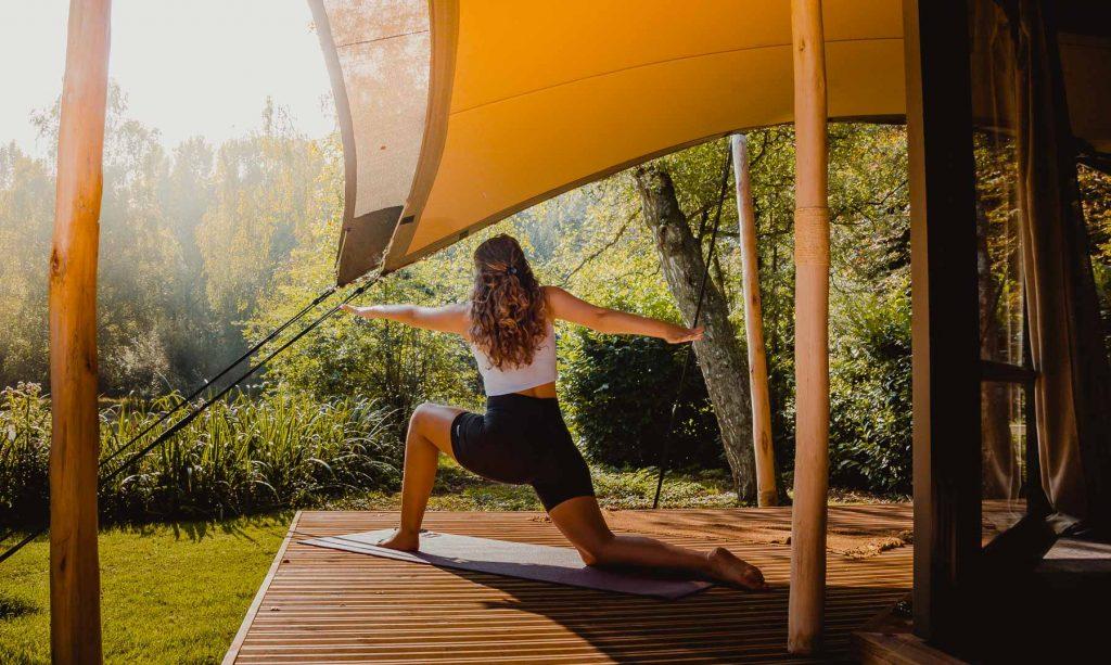yoga glamping