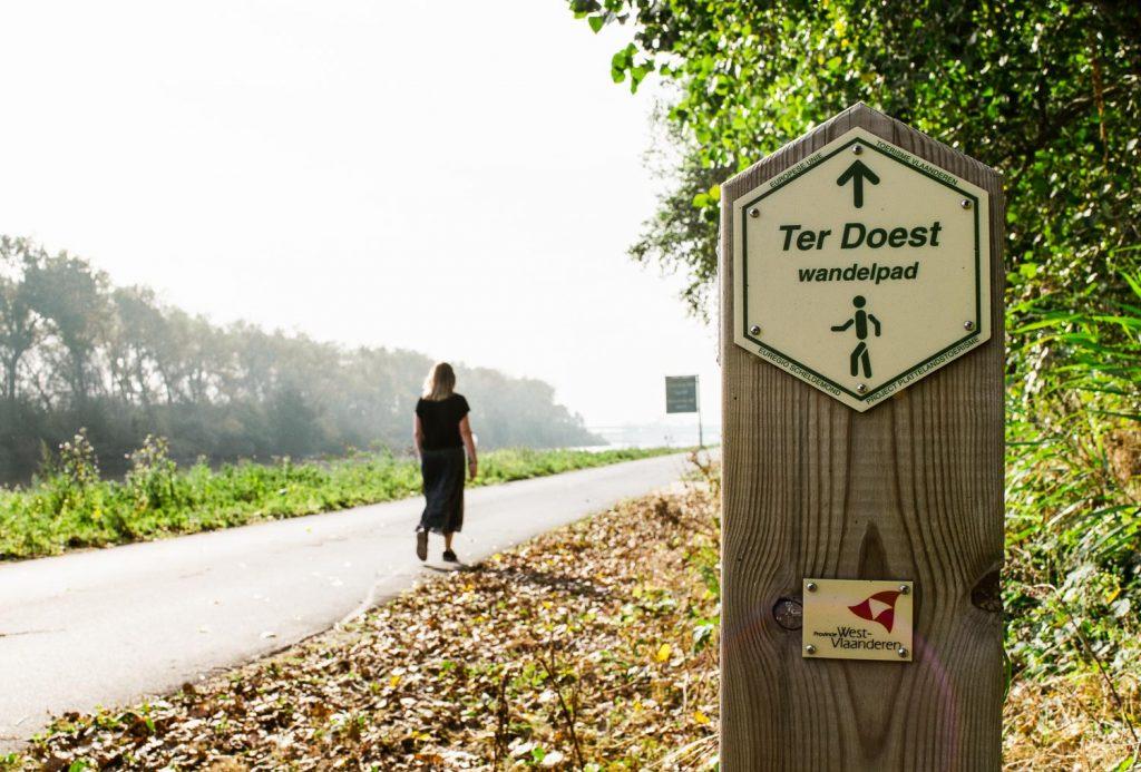 wandelen in de polders zeebrugge